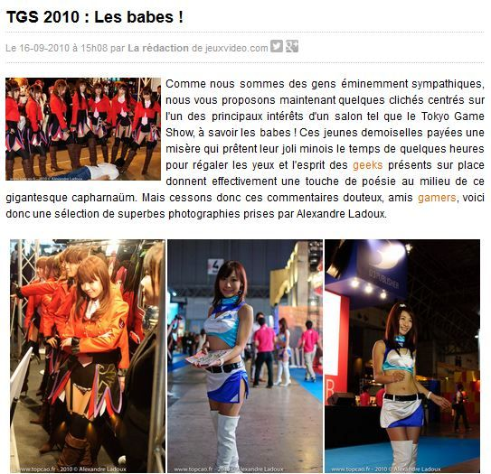 Dossier JVC Babes TGS 2010